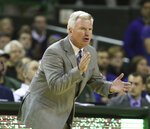 Kansas State head coach Bruce Weber reacts during a matchup with Baylor in the second half of an NCAA college basketball game, Saturday, Feb. 9, 2019, in Waco, Texas. (Rod Aydelotte/Waco Tribune Herald, via AP)/Waco Tribune-Herald via AP)