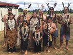 This undated photo provided by the Wiyot Tribe shows a group of tribal brush dancers. On Monday, Oct. 21, 2019, the city of Eureka will sign over the deed to the largest chunk, more than 200 acres in what was the historic village of Etpidolh. No money was exchanged. (Wiyot Tribe via AP)