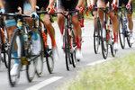 The pack rides during the twelfth stage of the Tour de France cycling race over 209,5 kilometers (130 miles) with start in Toulouse and finish in Bagneres-de-Bigorre, France, Thursday, July 18, 2019. (AP Photo/ Christophe Ena)