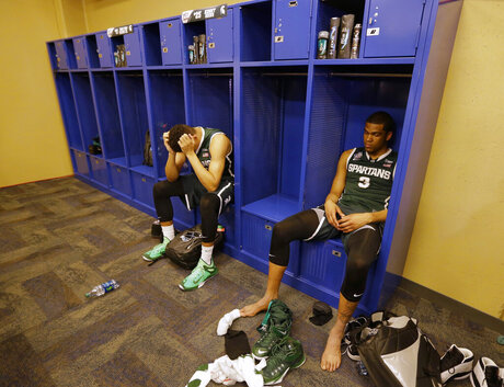 APTOPIX NCAA Michigan St Duke Final Four Basketball