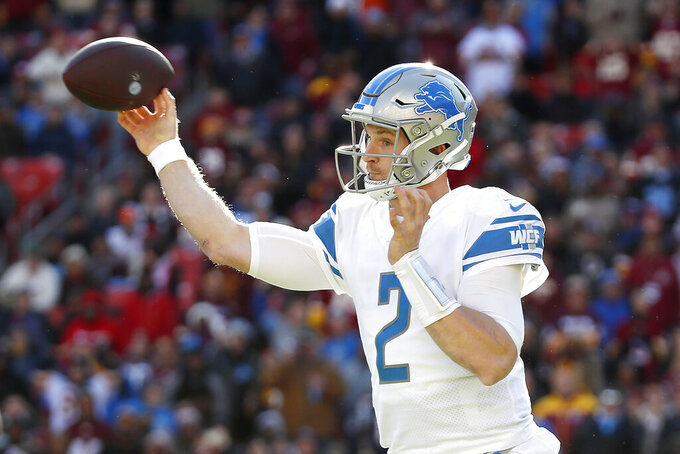 Lions put QB Jeff Driskel on injured reserve