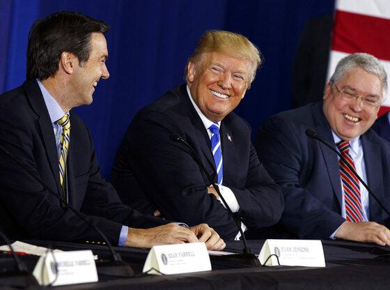 Donald Trump, Evan Jenkins, Patrick Morrisey