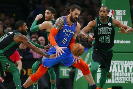 Kyrie Irving, Al Horford, Steven Adams