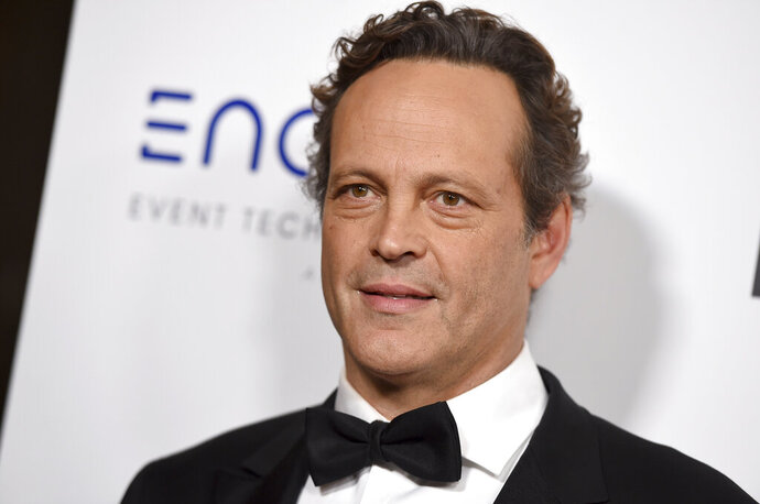 """FILE - In this Thursday, Nov. 29, 2018 file photo, Vince Vaughn arrives at the American Cinematheque Award ceremony honoring Bradley Cooper at the Beverly Hilton Hotel in Beverly Hills, Calif. Actor Vince Vaughn has been convicted of reckless driving after his arrest for failing a drunken driving test last year. An attorney for the 49-year-old """"Wedding Crashers"""" star entered a no contest plea to the misdemeanor count Friday, May 3, 2019 in Los Angeles Superior Court. Vaughn was sentenced to three years of probation and ordered to complete a three-month alcohol program.(Photo by Jordan Strauss/Invision/AP, File)"""