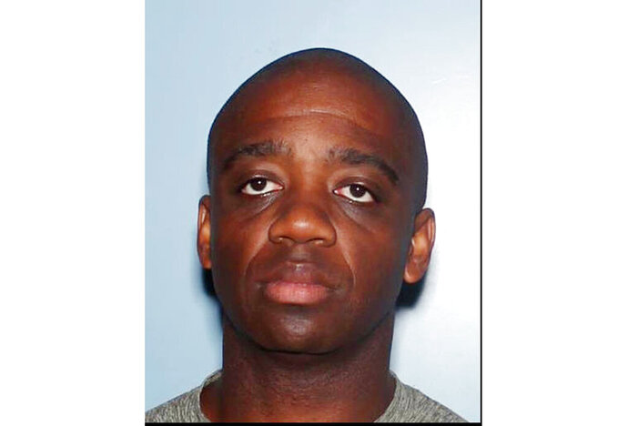 This undated booking photo provided by the Arizona Department of Public Safety shows former Arizona Highway Patrol trooper Tremaine Jackson. Jackson is accused of trying to exploit eight female drivers for sexual favors during traffic stops, and the Arizona Department of Public Safety says officials believe there may have been more victims. The DPS says it terminated Tremaine Jackson late Tuesday, Sept. 10, 2019 after he was arrested on suspicion of 61 counts including sexual abuse, attempted sexual abuse and sexual exploitation. (Arizona Department of Public Safety via AP)