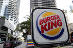 This Tuesday, Jan. 30, 2018, photo shows a sign for a Burger King in Miami. Restaurant Brands International, the parent company of Burger King and Tim Hortons, reports financial results Monday, Feb. 12, 2018. (AP Photo/Lynne Sladky)