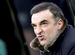 Swansea City manager Carlos Carvalhal ahead of the English Premier League soccer match against Newcastle United at St James' Park, Newcastle, England, Saturday Jan. 13, 2018. (Owen Humphreys/PA via AP)