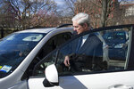 Special Counsel Robert Mueller enters his car after attending services, with his wife, at St. John's Episcopal Church, across from the White House, in Washington, Sunday, March 24, 2019. Mueller closed his long and contentious Russia investigation with no new charges, ending the probe that has cast a dark shadow over Donald Trump's presidency. (AP Photo/Cliff Owen)