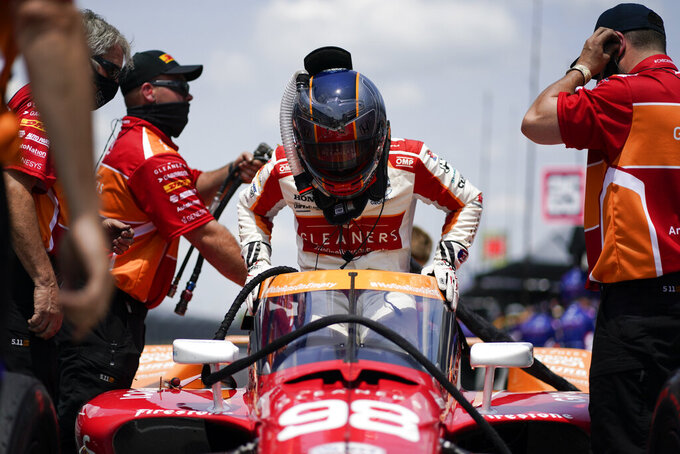 Andretti at ease at Indy after stepping back from racing