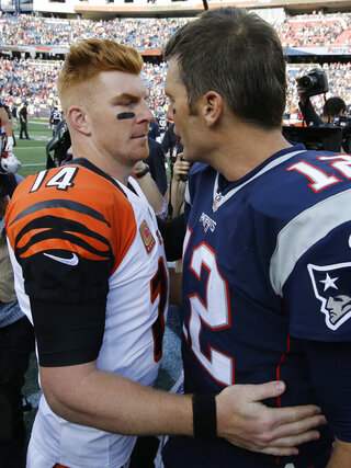 Andy Dalton, Tom Brady