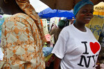 FILE - In this June 28, 2007 file photo,  Grace Ayeni wears an