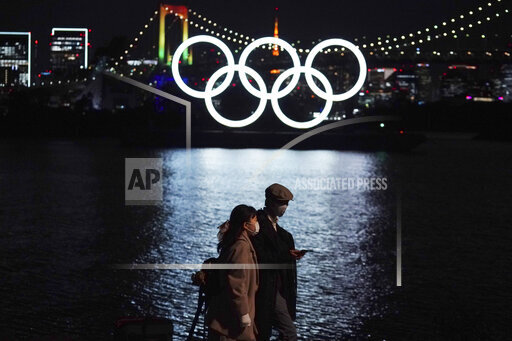 APTOPIX Japan Olympics Tokyo Rings Return