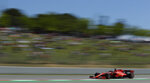 Ferrari driver Sebastian Vettel of Germany steers his car during the Spanish Formula One race at the Barcelona Catalunya racetrack in Montmelo, just outside Barcelona, Spain, Sunday, May 12, 2019. (AP Photo/Manu Fernandez)