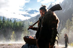 This image released by Apple TV Plus shows Jason Momoa in a scene from