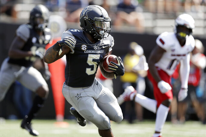 Vaughn, Neal lead Vanderbilt over Northern Illinois 24-18