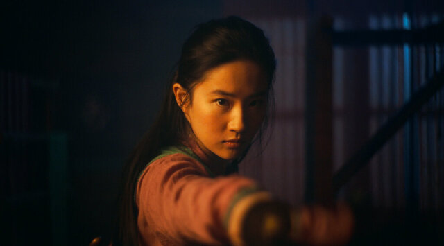 This image released by Disney shows Yifei Liu in the title role of