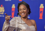 FILE - In this June 15, 2019, file photo, Tiffany Haddish arrives at the MTV Movie and TV Awards at the Barker Hangar in Santa Monica, Calif. As a comedian, Haddish sometimes says the darndest things. Now, she's getting kids to do it, too. Haddish is host and executive producer of ABC's