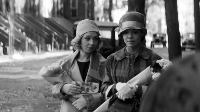 This image released by the Sundance Institute shows Ruth Negga, left, and Tessa Thompson in a scene from