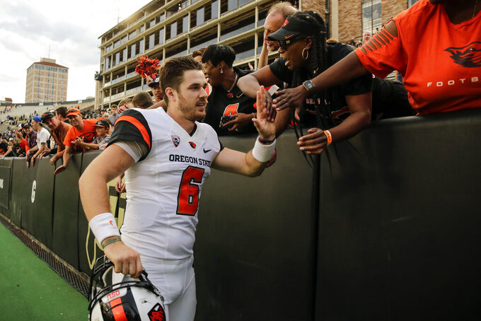 Oregon State quarterback Jake Luton getting another chance