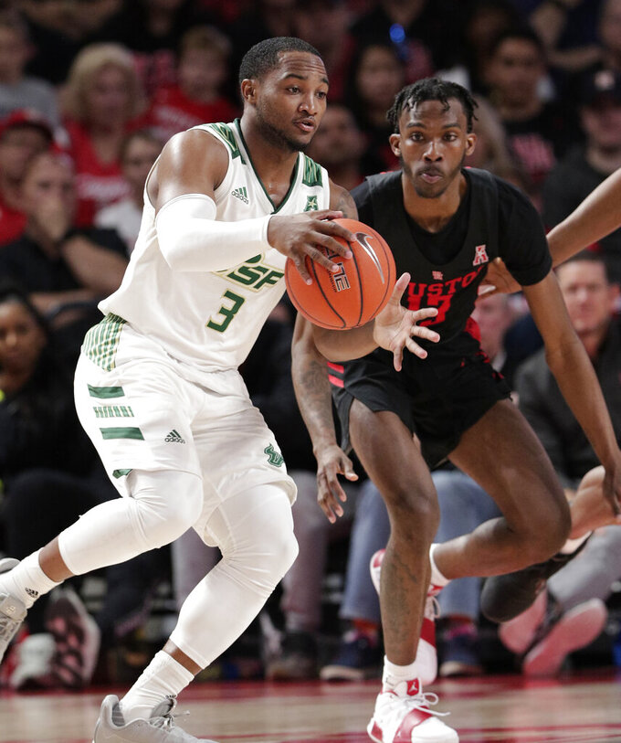 Jarreau, Davis lead No. 9 Houston to 71-59 win over USF