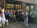 Democratic Congressional candidate Amy McGrath speaks to volunteers for her campaign on Monday, Nov. 5, 2018, in Lexington, Ky. McGrath, a retired Mariner fighter pilot, is challenging Republican U.S. Rep. Andy Barr in one of the most closely watched Congressional races in the country. (AP Photo/Adam Beam)