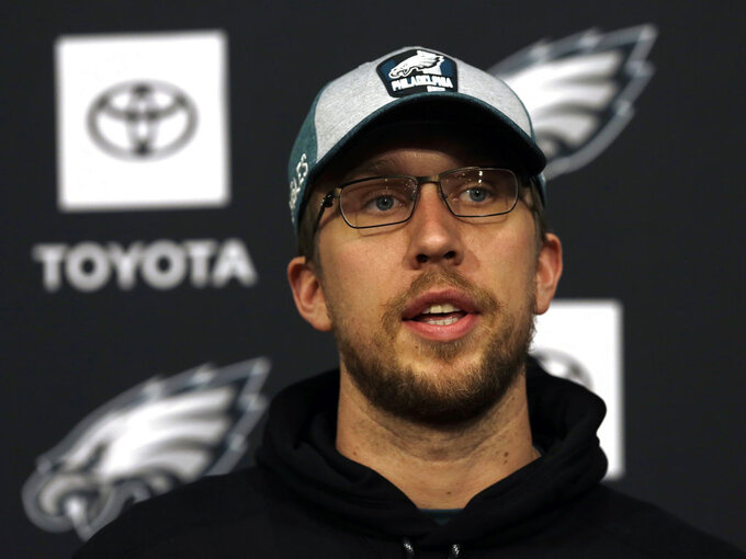 Nick Foles knows his time in Philly is likely nearing an end