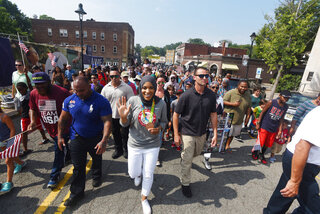 "The NJ chapter of the Council on American-Islamic Relations presented Olympic Bronze Medalist Ibtihaj Muhammad with the ""Breaking Barriers Award"" at a parade held in her honor in Maplewood."