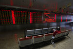 An investor monitors shares prices at a brokerage house in Beijing, Tuesday, Jan. 22, 2019. Asian markets were mostly lower on Tuesday after the International Monetary Fund trimmed its global outlook for 2019 and 2020. This came after China said its economy grew at the slowest pace in 30 years. (AP Photo/Andy Wong)