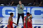 Toronto Raptors' head coach Nick Nurse applaudes his players during the second half of an NBA basketball game against the Miami Heat Monday, Aug. 3, 2020, in Lake Buena Vista, Fla. (AP Photo/Ashley Landis, Pool)