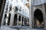 Damage on the nave and rubble are seen during preliminary work in the Notre-Dame de Paris Cathedral three months after a major fire Wednesday, July 17, 2019 in Paris. The chief architect of France's historic monuments says that three months after the April 15 fire that devastated Notre Dame Cathedral the site is still being secured. (Stephane de Sakutin/Pool via AP)