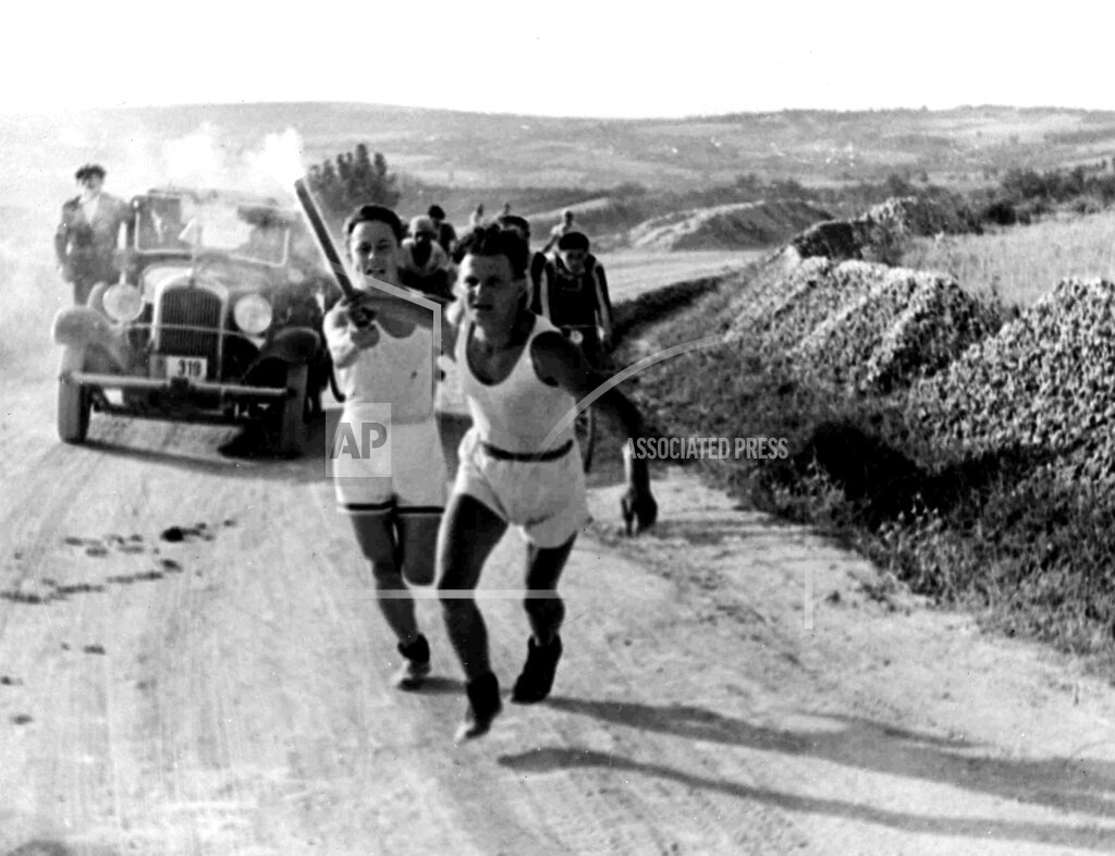 Watchf Associated Press Sports Olympics  Yugoslavia APHSL143921 Yugoslavia Olympic Torch
