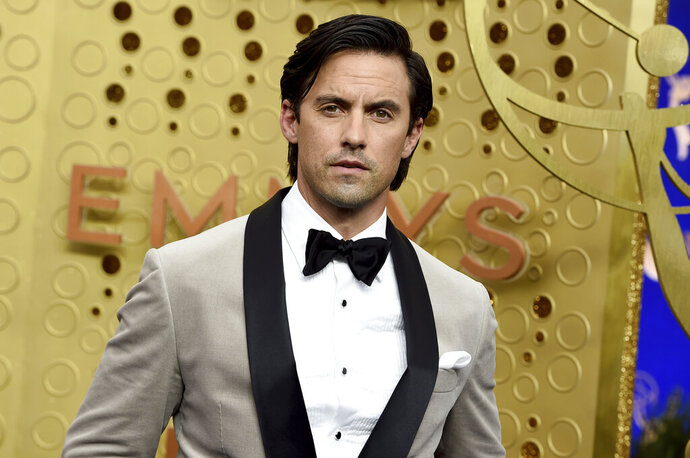 Milo Ventimiglia arrives at the 71st Primetime Emmy Awards on Sunday, Sept. 22, 2019, at the Microsoft Theater in Los Angeles. (Photo by Jordan Strauss/Invision/AP)