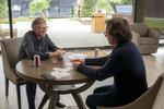 This image released by Netflix shows billionaire philanthropist Bill Gates, left, and filmmaker Davis Guggenheim from
