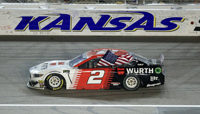 Keselowski wins at in overtime at Kansas ahead of Bowman