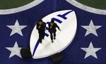 Chloe x Halle performs before the NFL Super Bowl 53 football game between the Los Angeles Rams and the New England Patriots Sunday, Feb. 3, 2019, in Atlanta. (AP Photo/Morry Gash)