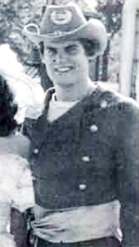 """In this 1980 University of Auburn yearbook photo, released by the office of Tennessee Gov. Bill Lee, Lee is pictured in a confederate states costume while attending the university, in Auburn, Ala. Lee says he now regrets participating in """"Old South"""" parties while he was a student at the university in which he and others dressed in Confederate uniforms. (Office of Tennessee Gov. Bill Lee via AP)"""