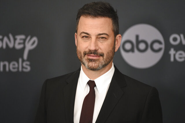 "FILE - This May 14, 2019 file photo shows Jimmy Kimmel at the Walt Disney Television 2019 upfront in New York. Kimmel apologized Tuesday for his 1990s blackface impressions of NBA player Karl Malone and other Black celebrities but, in a lengthy statement, said he was frustrated that his ""thoughtless moments"" are being used to diminish his criticism of injustices. (Photo by Evan Agostini/Invision/AP, File)"