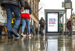 UK Government posters along Edinburgh's Princes Street advise people to prepare for Brexit, in Edinburgh, Scotland, Wednesday, Oct. 16, 2019. The European Union and Britain saw their chances of reaching a full Brexit divorce deal by Thursday's EU summit diminish by the hour Wednesday as legal issues centering on the Irish border frustrated negotiators (Jane Barlow/PA via AP)