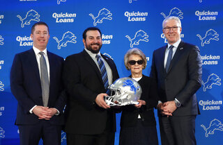 Matt Patricia, Bob Quinn, Martha Firestone Ford, Rod Wood