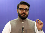 Afghanistan's National Security Adviser Hamdullah Mohib speaks during a news conference in Kabul, Afghanistan, Tuesday, Oct. 29, 2019. (AP Photo/Rahmat Gul)