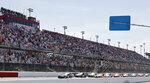 Brad Keselowski (2) leads the field to start the NASCAR Cup Series auto race at Darlington Raceway, Sunday, May 9, 2021, in Darlington, S.C. (AP Photo/Terry Renna)