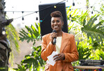 This image released by HBO shows Issa Rae in a scene from