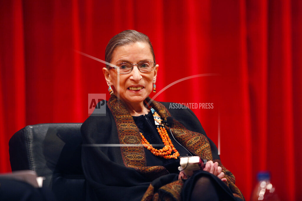 Outtakes AP A  OH USA OTKKS102 Ginsburg Speech