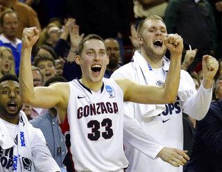 NCAA Iowa Gonzaga Basketball