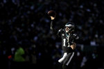 Philadelphia Eagles' Carson Wentz passes during the first half of an NFL football game against the Chicago Bears, Sunday, Nov. 3, 2019, in Philadelphia. (AP Photo/Matt Rourke)