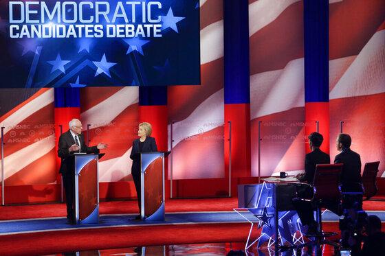 Bernie Sanders, Hillary Clinton, Chuck Todd, Rachel Maddow