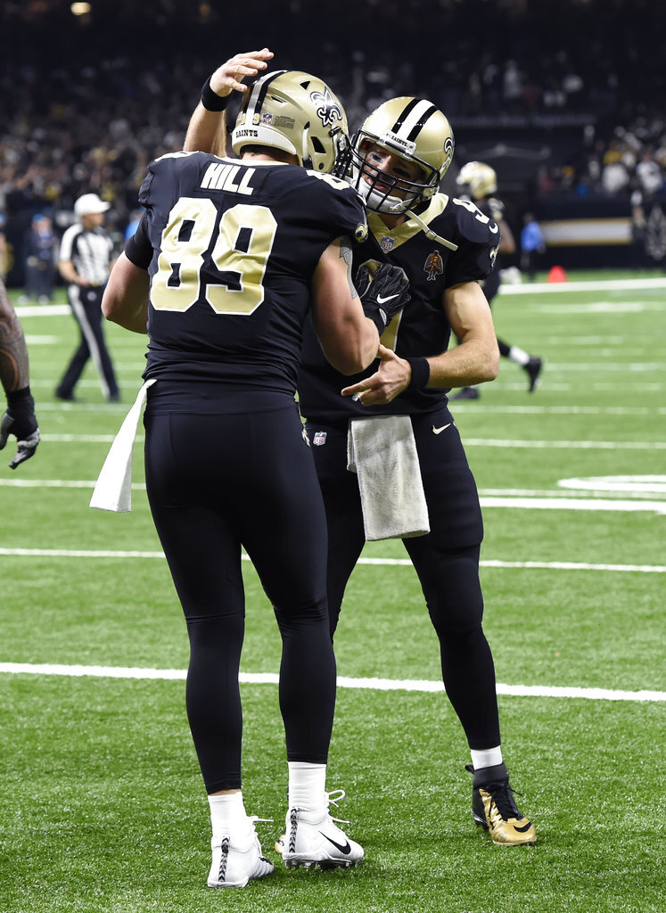 Josh Hill, Drew Brees