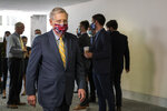Senate Majority Leader Mitch McConnell, R-Ky., arrives for a GOP policy meeting on Capitol Hill, Tuesday, June 30, 2020. (AP Photo/Manuel Balce Ceneta)