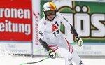 Austria's Cornelia Huetter reacts after completing an alpine ski, women's World Cup super-G, in Bad Kleinkirchheim, Austria, Saturday, Jan. 13, 2018. (AP Photo/Giovanni Auletta)
