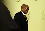 South African President Jacob Zuma after addressing the the nation and press at the government's Union Buildings in Pretoria, South Africa, Wednesday, Feb. 14, 2018. South African President Jacob Zuma says he has resigned